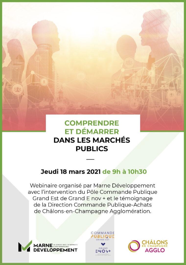 Marne Développement - Marché public - Introduction - agenda comprendre demarcher - 1