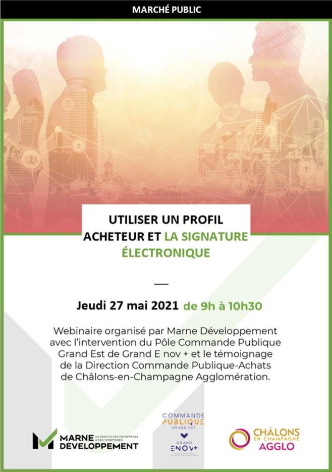Marne Développement - Marché public - Profil acheteur et signature électronique - agenda marche public - 1