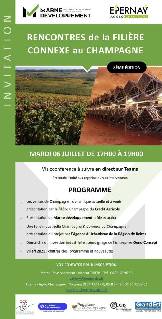 Marne Développement - Filière Connexe au Champagne - agenda rencontre de la filiere - 1