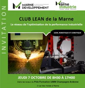 Marne Développement - Club Lean Management - Lean, Robotique et Cobotique - Image1 - 1