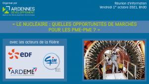 Marne Développement - [INFO PARTENAIRE] Le nucléaire : quelles opportunités de marchés pour les PME-PMI? - Webianire EDF - 1